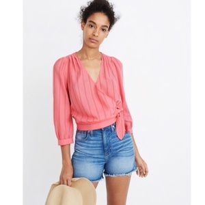 MADEWELL WRAP TOP IN CECILIA WRAP
